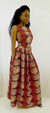 Handmade Batik African Printed Maxi/Long Gathered Skirt with Side Pockets