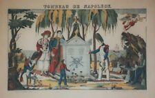 """""""TOMBEAU DE NAPOLEON"""" Imagerie d'Epinal originale entoilée François GEORGIN"""