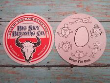 Beer Coaster ~ Big Sky Brewing Co ~ Missoula, Montana ~ Draw Yer Own ~ Cow Skull