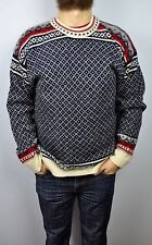 Wool Sweater Men's Medium Norwegian Pattern Norway Jumper Nordic Fisherman M top