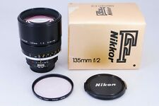 -Mint with Box- Nikon Ai-s Nikkor 135mm f2 Manual Focus Lens MF from Japan 113