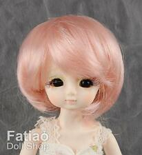 "New Doll Dollfie Bisou 1/12 BJD 4-5"" Wig - Pink"