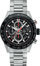 BRAND NEW TAG HEUER CALIBRE HEUER 01 CAR2A1W.BA0703 SKELETON MENS STEEL WATCH