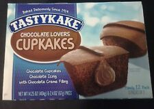 Tastykake~CHOCOLATE LOVERS CREAM FILLED~Chocolate Cupcakes~12 ct. (6 Pkgs of 2)