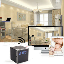 Wireless 1080P HD WIFI Camera Spy Clock Night Vision DVR Motion Video Nanny DV