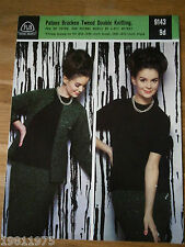 VINTAGE KNITTING PATTERN P&B 9143 DK 4PLY LADYS JACKET SKIRT AND JUMPER TO KNIT