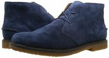 POLO RALPH LAUREN MARLOW DESERT CHUKKA BOOTS. DARK BLUE SUEDE, 9 UK, 43 EU, NEW