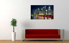 """SINGAPORE CITY ART PRINT POSTER PICTURE WALL 33.1"""" x 20.7"""""""