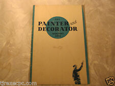 The Painter and Decorator Aug 1934 magazine 1930's