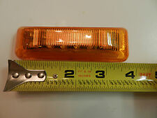 (1) 12 diode LED Light 1x4 Surface AMBER Clearance Marker trailer (2 prong base)