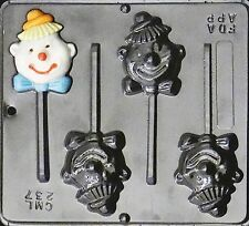 Clown Lollipop Chocolate Candy Mold  237 NEW