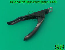Pro Acrylic False Nail Art Tips Cutter Clipper - Black