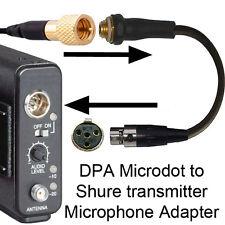 Connazionale DPA MicroDot per Shure ta4f 4 pin mini XLR (Tiny Q) adattatore microfono