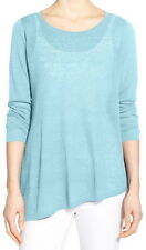 Eileen Fisher Windflower Organic Linen Ballet Neck Tunic Sweater Size Small