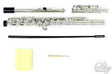 NEW SKY NICKEL/SILVER SCHOOL BAND C FLUTE w/Split E TOP QUALITY GUARANTEE!