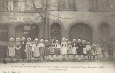 Metz France Groupe de Petites Lorraines en Costume National Postcard 1918