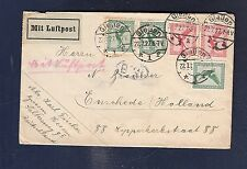 32 Germany 1927 Giessen Air Mail Cover to Enschede  Holland
