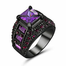 Stunning punk rave new rock vintage amethyst gothic engagement ring valentines P