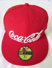 NEW ERA CAP HAT 59FIFTY COCA-COLA SODA RED CLASSIC COKE FITTED SIZE 7 3/8