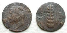 1926   Regno D'Italia 5  centesimi spiga Errore di Zecca   peso di soli 0,75 gr.