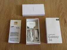 EMPTY RETAIL PACKAGING BOX FOR SAMSUNG GALAXY S6 BLACK & accessories UK PLUG