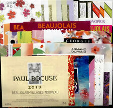 BEAUTIFUL LOT OF 37 FRENCH WINE LABELS - BEAUJOLAIS NOUVEAU 2013 - FREE SHIPPING