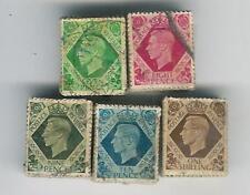 Gb kg6 1937 los colores oscuros 500 Sellos 7d 8d 91) 10d 1 / - X 100 Cada Uno... Cv £ 375