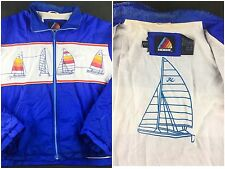 True Vintage 80s Hobie Sailboat Boating Windbreaker Jacket w/ Graphic Lining XL
