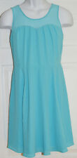 Express Mixed Media Fit and Flare Dress Size 6 Sleeveless Summer