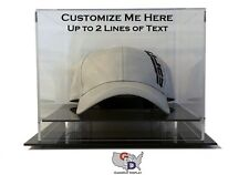 Custom Hat Display Case Counter or Desk Top Create Your Own Text GameDay Display