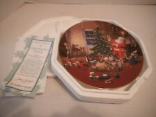 A Christmas Eve Visitor- Hamilton Classic American Santa's Plate Collection