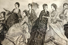 Victorian Fashions BRIDAL WEDDING GOWNS and EVENING DRESSES 1872 Large Print