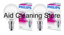 2 x PHILIPS Branded Oven 40w Lamp SES E14 Small Screw Cap 300° Cooker Light Bulb