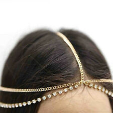 Boho Lady Rhinestone Drop Head Chain Jewelry Forehead Dance Headpiece Hair Band