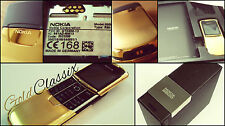 NEW - NO BOX Made In Germany Unlocked Original Gold Nokia 8800 Mobile + GIFT