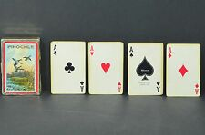 Vintage Imperial by Whitman Plastic Coated  Pinochle Cards Gilt Edge ( Ducks)
