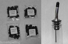 4 Dozen Black Dust Caps Bar Supplies Bottle Pour Spout Pourer Cover