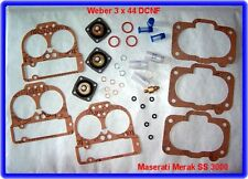 Weber 3 x 44 DCNF 44, carburateur rep. Kit, Maserati Merak ss