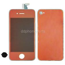 Red LCD Screen Touch Digitizer Home Button Back Cover For iPhone 4 CDMA US