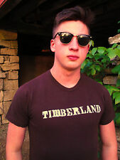 Traditional Timberland Brown 100% Cotton Size S T-Shirt