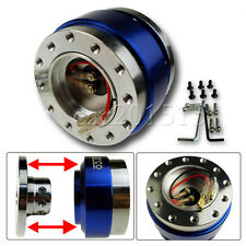 STEERING WHEEL BALL QUICK RELEASE Hub Adapter Snap Off Boss Kit Universal Blue