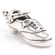 IRISH STEP DANCE HARD SHOE JIG Celtic DANCER Charm Pendant Sterling Silver 925