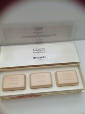 CHANEL COCO MADEMOISELLE SOAP BAR SET OF THREE NEW IN BOX ORIGINAL