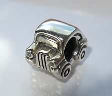 Authentic Pandora Silver Car Clear & Red CZ Charm #790405CZ *Retired*