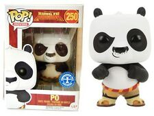 Kung Fu Panda Po Flocked batuffoloso Pop! Funko movies Vinyl figure n° 250