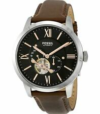 Fossil Automatic Watch, ME3061 Brown Leather Band, 44mm Case, 5ATM WR RRP$299