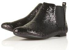 BNWT TOPSHOP MACCOY Glitter Chelsea Boots UK 8