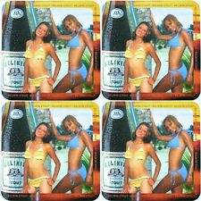 "Lot 4 Belize Beer Coasters Mats Belikin Stout 2005 Classic ""Calendar Girls"" Set"