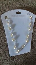 BRAND NEW - LADIES NECKLACE -  PEARL BEADS - small wick basket