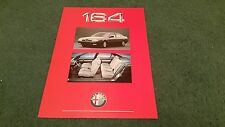 1988 / 1989 ALFA ROMEO 164 3.0 + LUSSO - UK LAUNCH PART COLOUR LEAFLET BROCHURE
